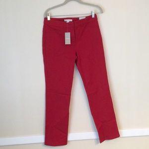 Chico's Red Denim Pants NWT